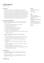 Construction Manager Resume Templates 2019 (Free Download ...