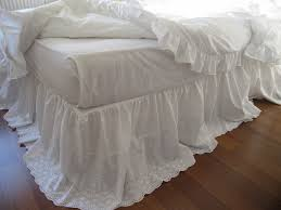 Box Pleat Bed Skirt by Lace Bed Skirt Bedskirt White Eyelet Lace Cotton Dust Ruffle