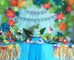 decoration pour anniversaire anniversaire vaiana déco sweet table et activités faciles pour
