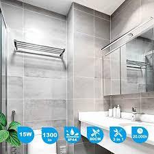 cywer led spiegelleuchte ip44 aufbauleuchte klemmleuchte 80cm 15w 1200lm badleuchte schminklicht badezimmer schrankleuchte aufbauleuchte