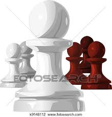 Clipart Of Vector The Chess Pieces Black And White Pawn