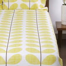 Scribble Stem Bedding Soft Lemon Luxury Bedding & Bed Linen