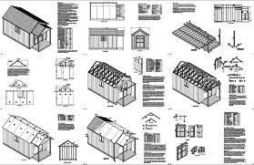 Gambrel Shed Plans 16x20 by Bari Shed Plans 20 X 16