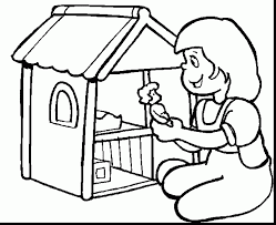 Excellent Doll House Printable Coloring Pages With And Preschool
