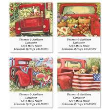 Red Truck Select Return Address Labels | Colorful Images
