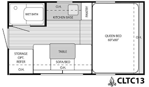 13 Vintage Camper Floor Plans