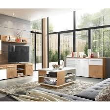 wohnzimmer kombination im modernen stil lombardo 61 in wotan eiche nb