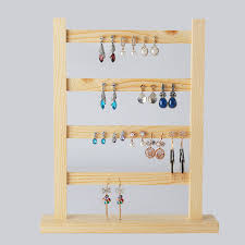 Wood Earrings Display Holder Frame Jewelry Jewellery Stand