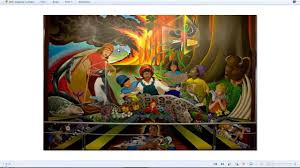 Denver International Airport Murals Painted Over by Comet Ison Lady Gaga Britney Spears Red Chili Peppers End