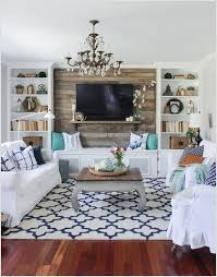 2 Make An Accent Wall Behind The TV Screen With Reclaimed Wood