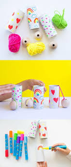 DIY Paper Tube Ball And Cup Game Easy Fun Recycled Craft For Kids