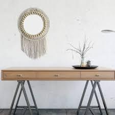 dekorativer wandspiegel rattan kosmetikspiegel für apartment