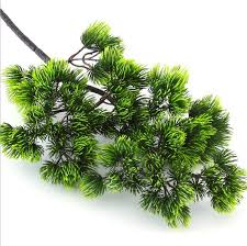 2018 Pine Tree Branches Artificial Plastic Pinaster Plants Fall Christmas Decoration Flowers Arrangement Leaves Wreath From Sheiler 2391