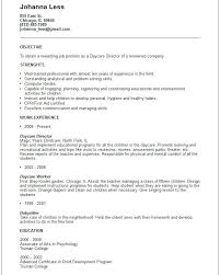 Childcare Worker Resume Daycare Detail Example Free Templates Collection Sample