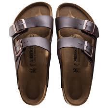 birkenstock arizona birko flor regular mens sandals dark brown new