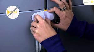 Safety 1st Cabinet And Drawer Latches Video by Safety 1st How To Use Cupboard Lock Safety Accessory Youtube