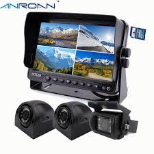 100 Rear Camera For Truck 9 DVR Video Recorder Quad Split Monitor View