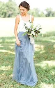 Lovely Country Wedding Dresses Or Sleeveless A Line Long Tulle Gown With Pleats And Scoop Neck