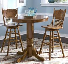 Extraordinary Round Wood Pub Table And Chairs Piece Solid ...