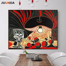 klassische künstler pablo p stillleben mit glas unter die le leinwanddruck malerei wandbilder für wohnzimmer wohnkultur
