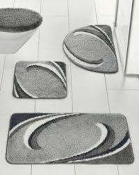 badematte grau wollweiss bad teppich bad garnitur neu