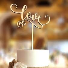 Rustic Wedding Cake Topper Buy Love Wooden Decorations Gift Silhouette Toppers Canada