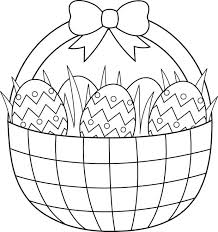 Coloring Page Easter Bunny Related Post Basket Pages Eggs Printable Pdf