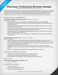 Free Download Sample Pharmacy Technician Resume Tips Of