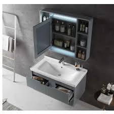 bad möbel holz möbel massivholz badezimmer schrank mit spiegel und waschbecken