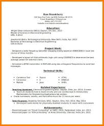 Entry Level Engineering Resume Examplesentry For Electrical Engineer Example