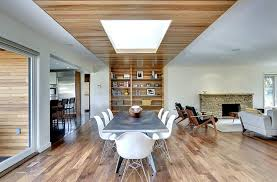 View In Gallery Innovative Ceiling Design Steals The Show This Dining Room Peterssen Keller