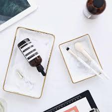 nordic stil marmor gold ablage keramik tablett desktop enthalten fotografie requisiten badezimmer kommode platte schutt tablett