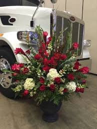 I Had The Privilege Of Designing Flowers For A Recent Trucking Technology Program At Civic Center Yes That Is Big Peterbilt