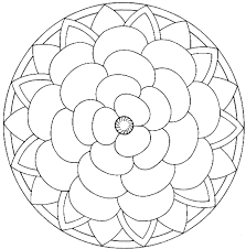 Easy Mandala Coloring Page For Adults