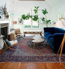 Like Oriental Rug Plant And Blue Couch From Anthropologie