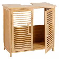 axentia bambus waschbecken unterschrank 60 x 58 x 30 cm badezimmer schrank für handtücher putzutensilien mittel u reinigungsmittel