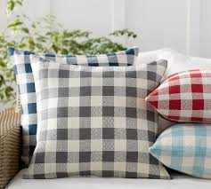 Pottery Barn Decorative Pillow Inserts by Gingham Indoor Outdoor Pillow Pottery Barn