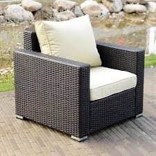 Ebay Patio Furniture Sectional by 1pc Outdoor Rattan Wicker Sofa Cafe Sectional Patio Couch Garden