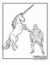 Unicorn Knight Coloring Page