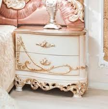 casa padrino luxus barock nachtkommode weiß creme kupferfarben 70 x 55 x h 68 cm prunkvoller massivholz nachttisch barock schlafzimmer möbel