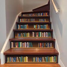 großhandel 6 teile satz nette diy 3d stairway aufkleber gefälschte bücherregal treppen aufkleber boden wanddekor aufkleber aufkleber wohnzimmer