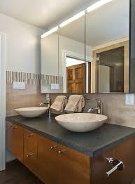 lighted medicine cabinet bathroom transitional with bathroom