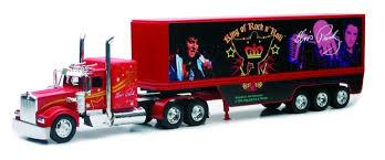 Amazon.com: New Ray Toys Diecast Kenworth Elvis Truck - The Blue ...