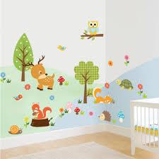 stickers chambre bebe garcon beau stickers muraux chambre bébé garçon et mignon animaux sticker