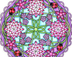 Flower Mandala Coloring Page To Print And Color Nature Flowers Adult