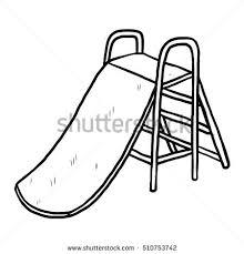 Playground Clipart Free Black And White Slide Cartoon
