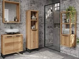 woodkings bad spiegel sydney holz rahmen badspiegel mit ablage wandspiegel badmöbel badezimmermöbel schminkspiegel wildeiche 56 65