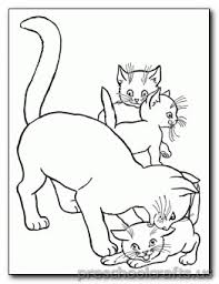 Cat Family Coloring Pages For Preschool