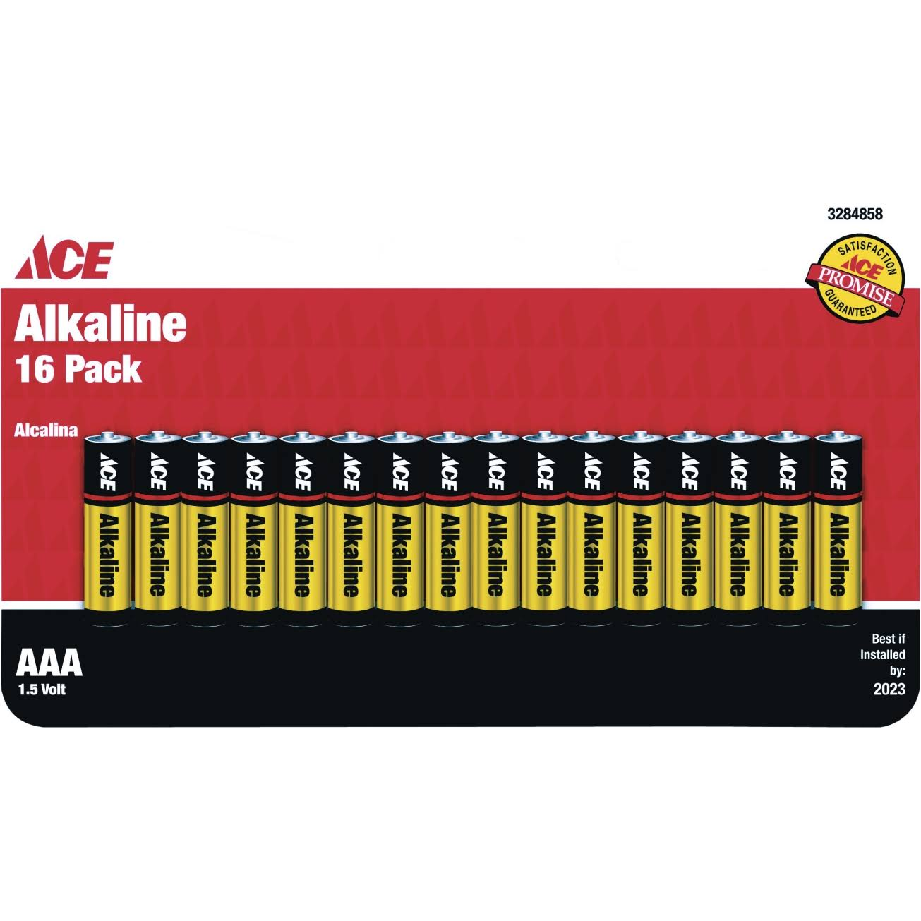Ace AAA Alkaline Batteries - 16pk