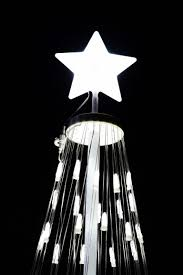 Flagpole Christmas Tree by 192 U2033 16 Ft Outdoor White Led Cone Tree W Collapsible Base With